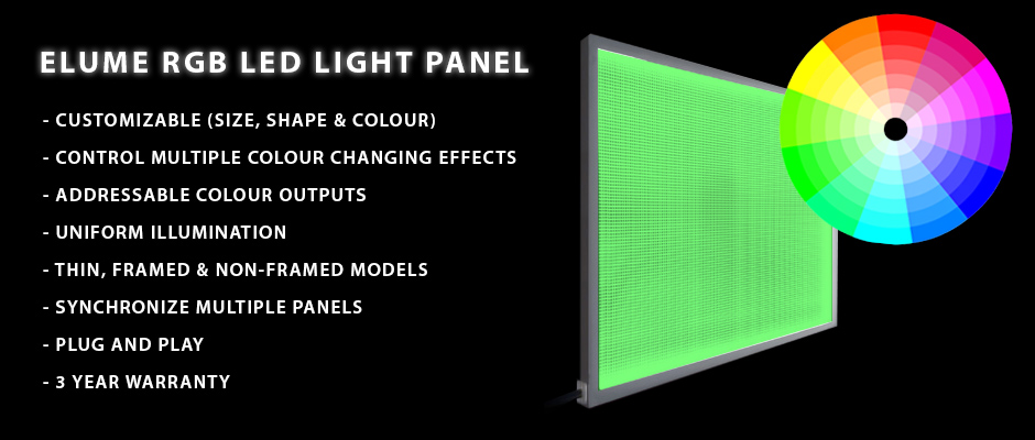 Custom Colour Changing RGB Light Panel