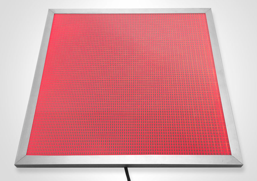 Elume RGB LED Light Panel - Framed | Model: ELP-SF32-RGB/1 - Red