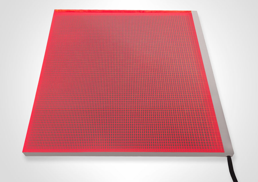 Elume RGB LED Light Panel - Non-Framed | Model: ELP-RGB/1 - Red